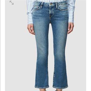 Frame le crop mini boot sz 28 jean